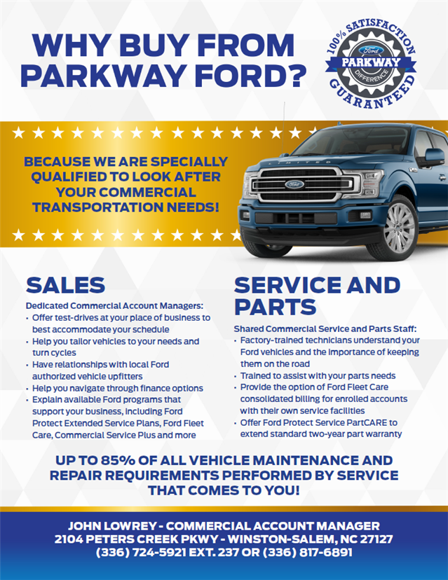 Parkway Ford Winston Salem Nc >> About Parkway Ford Commercial Vehicle Center Winston Salem Nc